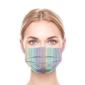 GGSEU Stoffmasken Mundschutz Maske Stoff Mund Nasen Schutzmaske Mund und Nasenschutz Maske waschbar groß (Regenbogen)