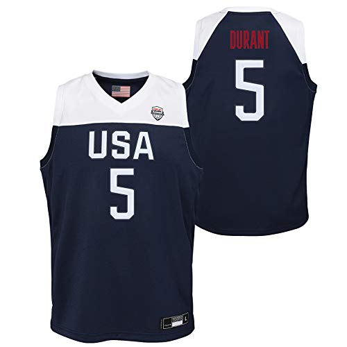 OuterStuff Team USA Basketball Kevin Durant #5 Road Navy Swingman Jersey Youth Sizes (Youth Small (8))