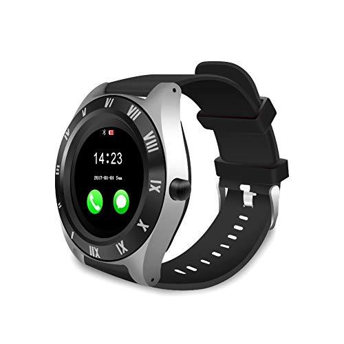 YOUNICER Bluetooth Smartwatch Touchscreen-Armbanduhr mit Kamera/SIM-Kartensteckplatz Wasserdichtes Handy Smart Watch Sport Fitness Tracker für Android