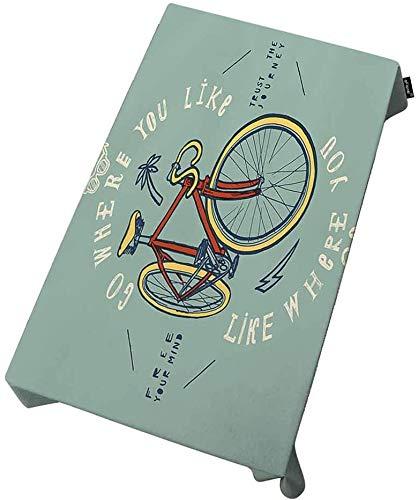 XXDD El Mantel Rectangular Impermeable para Bicicletas se Puede Utilizar para Mesa de Buffet, Fiesta, Cena navideña, Lugar Ideal para Bodas A1 140x180cm