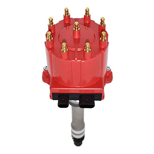 A-Team Performance Small Block Big Block EFI TBI Distributor 1987-1997 5.0L 5.7L 7.4L Compatible With GMC CHEVY C/K Pickup Truck Van Camaro 305 350 454 HEI652R Red Cap