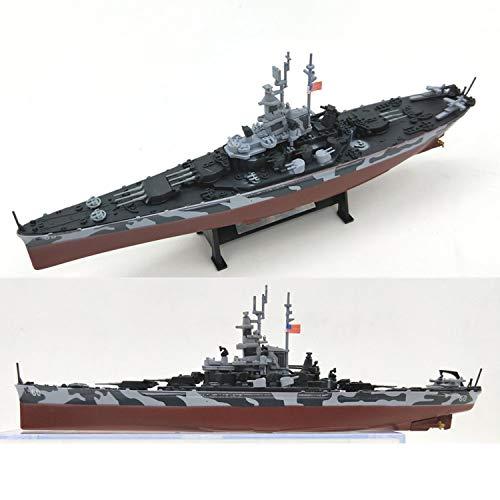 Educational Toys Model 1/1000 War Ship USS Alabama (US Flagship) Battleship World Plastic Warship Assembled Model Building Kit with Motor DIY Kids Military,