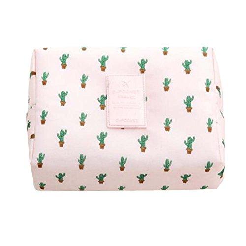 Sac de collection de poche de voyage de femmes de cosmétiques sac (motif de cactus de Fink)