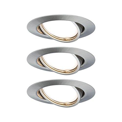 Preisvergleich Produktbild Paulmann Einbauleuchte LED Base rund 5W GU10 Eisen 3er-Set schwenkbar