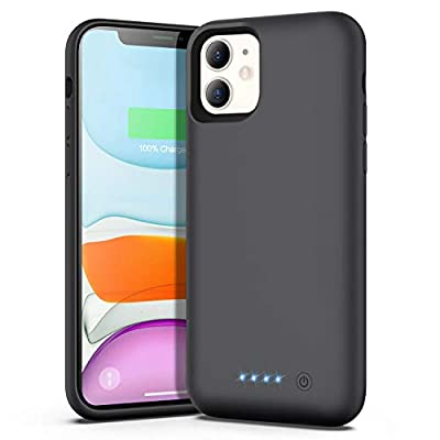 Ekrist Battery Case for iPhone 11, 6800mAh Portable Protective Charger Case Rechargeable Extended Battery Pack Charging Case Compatible with iPhone 11 (6.1 inch) (Black)