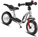 3 años y 4 años de edad para niños Balance de bicicletas 12 pulgadas niño y niña equilibrio bicicleta luz niño bicicleta caminar bicicleta altura ajustable,Silver
