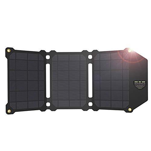 ZYRAY 21W tragbares Solarpanel, faltbares Solarladegerät, zum Laden von Akkus für Camping-Heimladegeräte
