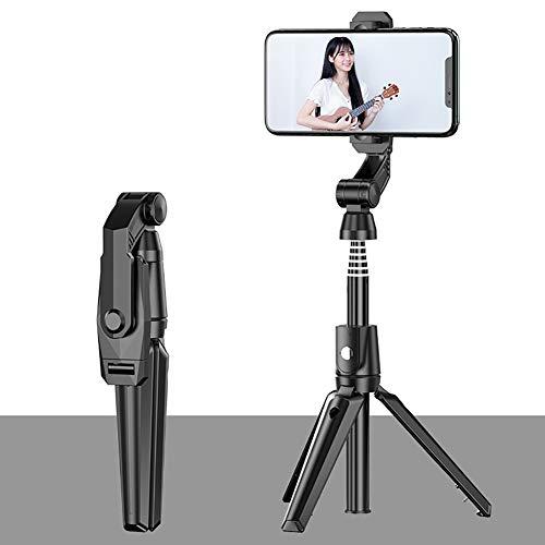 PGODYQ Soporte de trípode y Bluetooth Selfie Stick y soporte para teléfono celular, rotación de 360°, aleación de aluminio ligero mini todo en uno
