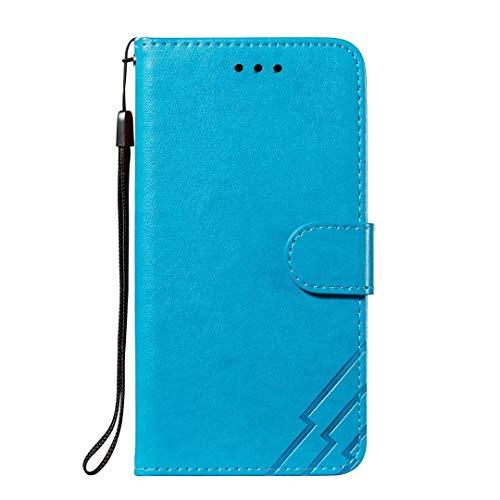 Schutzhülle für Huawei P30, stoßdämpfend, Brieftaschen-Design, PU-Leder, mit Kartenfächern, Geldbeutel, Ständer, magnetisch, für Huawei P30, Blau