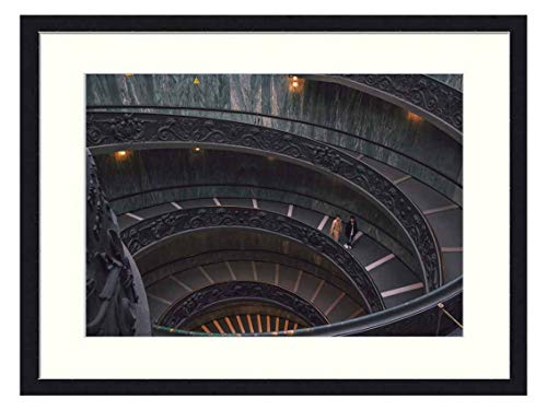 OiArt Wall Art Print Wood Framed Home Decor Picture Artwork(24x16 inch) - Architecture Building Infrastructure Vatican Museums