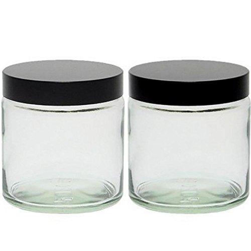 mikken Glas Tiegel, Creme, 2X 120ml, 10-Einheiten