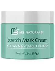 M3 Naturals Stretch Mark Cream Infused with Collagen and Stem Cells – Prevent, Fade and Reduce the Appearance of Stretch Marks and Scars – With Vitamin E, Green Tea Extract, and Raspberry Ketones 2 oz
