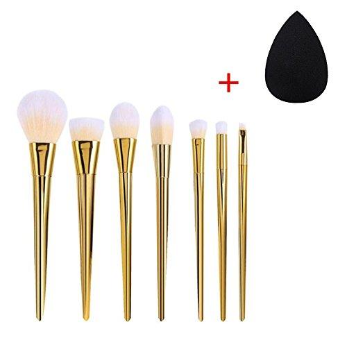 FEITONG Mode féminine et nécessaire 7pcs Set Professional Brush Haute Pinceaux Maquillage Blush Brosses pinceau de maquillage (Or)