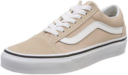 Vans Old Skool, Zapatillas de Skateboarding para Mujer, Beige (Frappe/True White Q9X), 44 EU