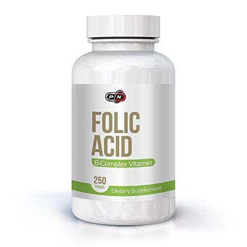 Pure Nutrition FOLIC Acid 800 mcg 250 Servings Tabs with Vitamin B12 Complex|Vitamin B9 Folate