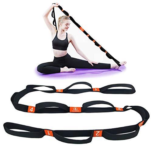 5BILLION Bande Fitness - 4cm x 204cm - Fasce di Resistenza con Cicli Multipli Grip - Ideale per Hot Yoga, Fisioterapia, Una Maggiore Flessibilità e Fitness Allenamento (Arancione)