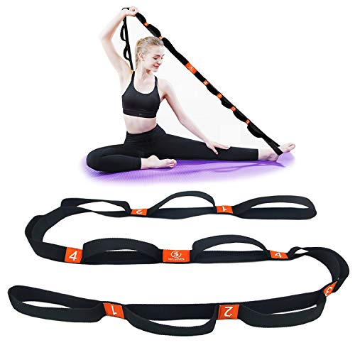 5BILLION Correa Yoga & Stretch Strap - Ancho de 4cm - Yoga Strap para Yoga...