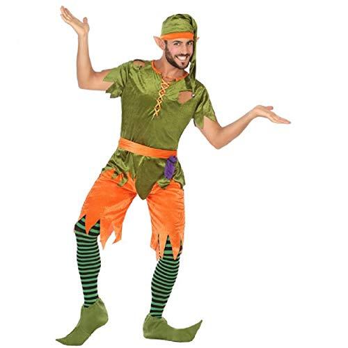 Atosa 56492 Costume Elfo Uomo XL Verde-Carnevale, Uomo