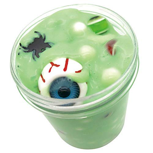 Cloud Slime Scented Halloween Eyeball Spider Clay Mud Toy Super Soft Toy for Over 3 Years Old Kids Safe Non Toxic Stress Relief Birthday Party Favors Best Gift Halloween Decorations