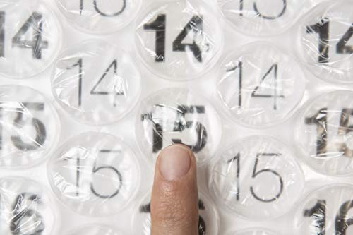 Bubble Wrap Calendar - A Poster Sized Wall Calendar with a Bubble to Pop Everyday
