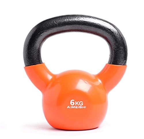 Phil Beauty Kettlebell de Fitness para Hombres y Mujeres Mango Mate Antideslizante Mancuerna Bola de Pesas Rusas de Cadera de Brazo en Cuclillas Velocidad Fuerza Resistencia,6kg