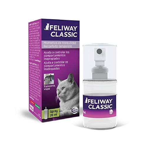 FELIWAY Classic - Antiestrés para gatos - Transportín, Viajes - Spray (20 ml) 🔥