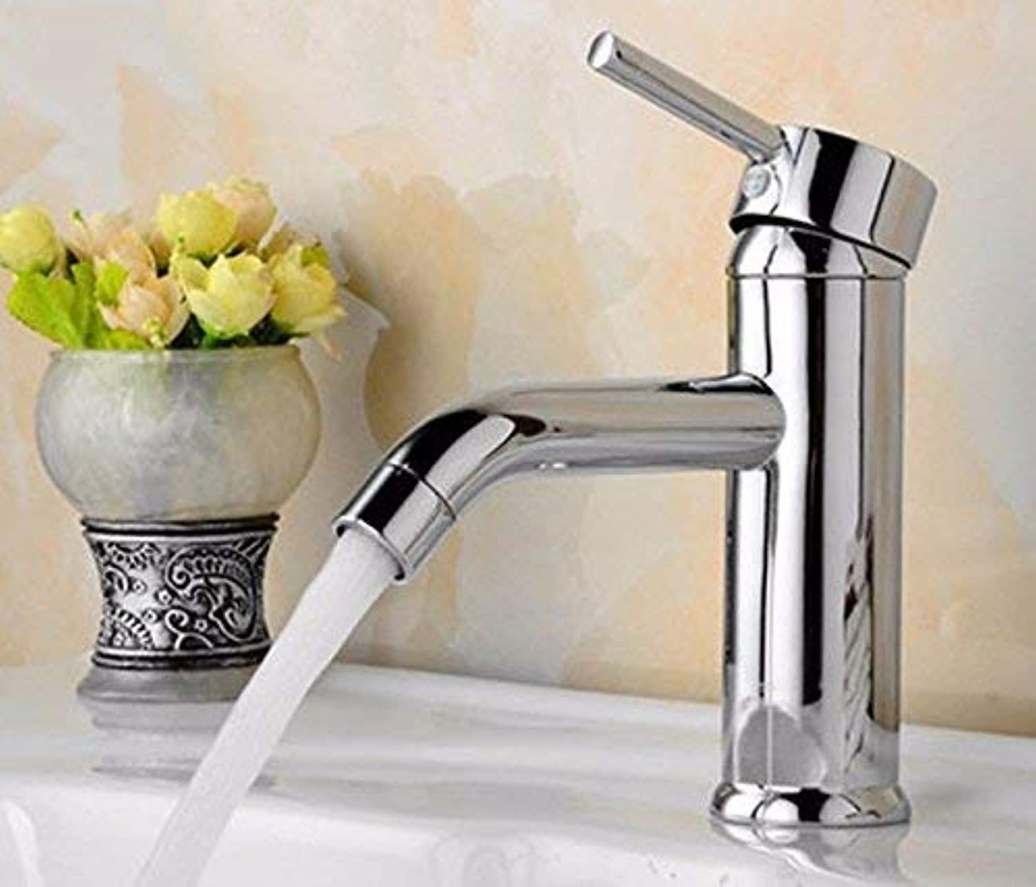 Oudan Sink Taps Single handle copper Hot and cold Single hole bathroom Seated Wash your facePots bathroom ceramics
