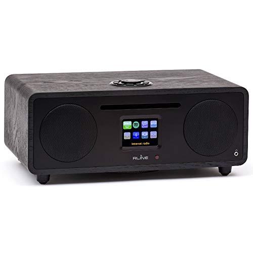 CD-speler (zwart) met radio-luidspreker, Bluetooth 4.0, wifi, Spotify
