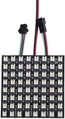 BTF-LIGHTING LEDパネル WS2812B ECO RGB合金ワイヤー 16X16cm 265ピクセル LEDマトリックス 5050SMD デジタルフレキシブル 個別にアドレス指定可能 フルカラーLEDパネル DC5V