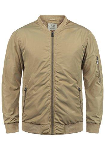Blend Craz Herren Bomberjacke Übergangsjacke Jacke Mit Stehkragen, Größe:L, Farbe:Safari Brown (75115)