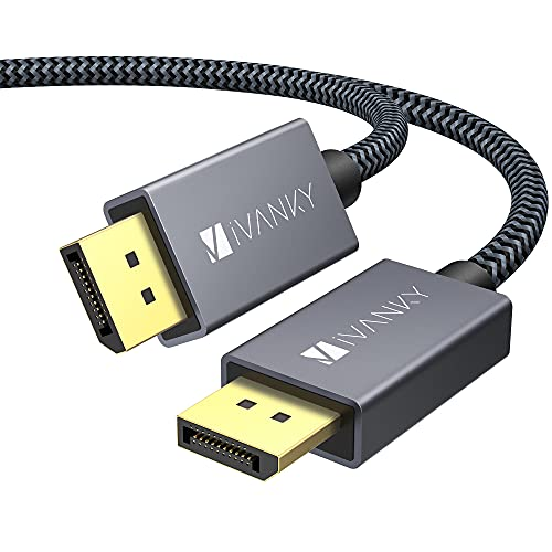 Displayport ケーブル,iVanky[【ゲーミングDPケーブル 1.2/4K/2M】4K@60Hz/ 2K@165Hz/ 2K@144Hz, DP to DP ケーブル,最大21.6Gbpsハイスピード,PC/ASUS/Dell/Acer ノートパソコン/テレビ対応