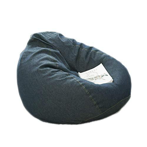 LDIW Sitzsack Hülle ohne Füllung, Denim Blue Farbe Sitzsack Abdeckung Außenbezug Wechselbezug für birnenförmigen Sitzsack ideal für Jugendliche und Erwachsene,XL