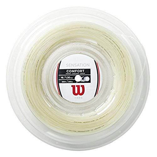Wilson Sensation 16 200M Reel Cordaje para Raquetas-Unisex, Multicolor, 16G