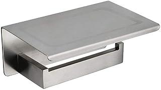 Toiletrolhouder White & MirrorChrome gepolijst & Black & geborsteld RVS toiletrolhouder Top Place Dingen Platform 4 Choice...