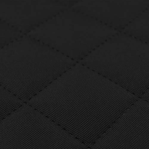 HEKO PANELS Oxford Mat Gesteppt Outdoorstoffe Meterware - z.B. Stoff für Stühle oder Eckbank Bezug- Schwarz
