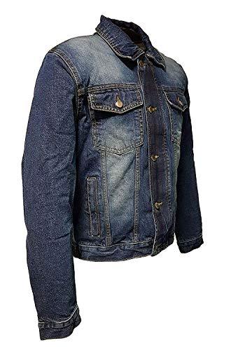 ROLEFF RACEWEAR RO1515 Jeans Motorradjacke mit Aramideinlagen & Protektoren, blau, Größe XXL