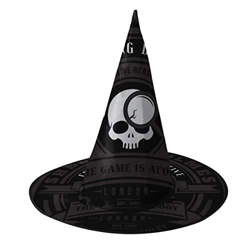 Sombrero de Halloween Sherlock Holmes Consultor Detective Sombrero de Bruja Halloween Disfraz Unisex para Vacaciones Halloween Fiesta de carnavales de Navidad