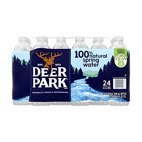 Deer Park Bottled Spring Water, 16.9 Ounce (24 Bottles)