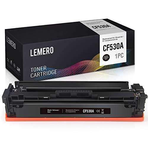 LEMERO CF530A 205A Toner Kompatibel für HP Color Laserjet M154A M154NW M180 M180N M181 M181FW Drucker, Schwarz