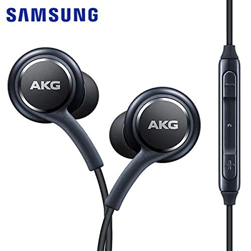 M AKG Stereo In-Ear Headset for Samsung Galaxy S9 S9 Plus S9 Duos S9 Duos+ S8 S8 Plus S8 Active S7 S7 Edge S6 S6 Edge A8 2018 A8 Plus Note 8 Black