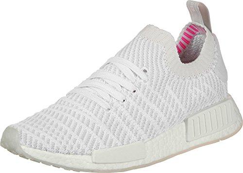Adidas Originals NMD_R1 STLT PK Hombre Running Trainers Sneakers (UK 3.5 US 4 EU 36, White Grey CQ2390)