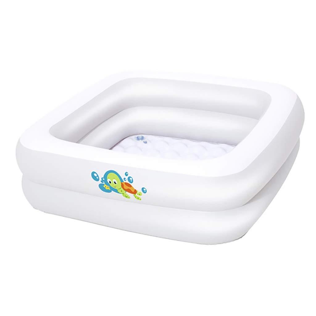 Piscina Inflable Cuadrada Blanca, Bañera para Niños, Bañera para ...