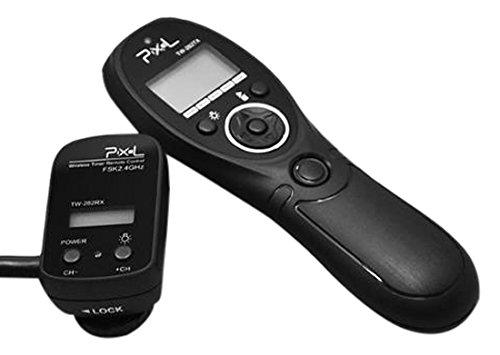 Pixel TW-282/N3 - Disparador Remoto inalámbrico con Temporizador y Conector N3 para cámara réflex Digital Canon, Negro
