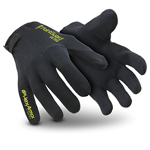 HexArmor PointGuard Ultra 6044 Thin Police Search Gloves with Needle and Puncture Resistance, Medium