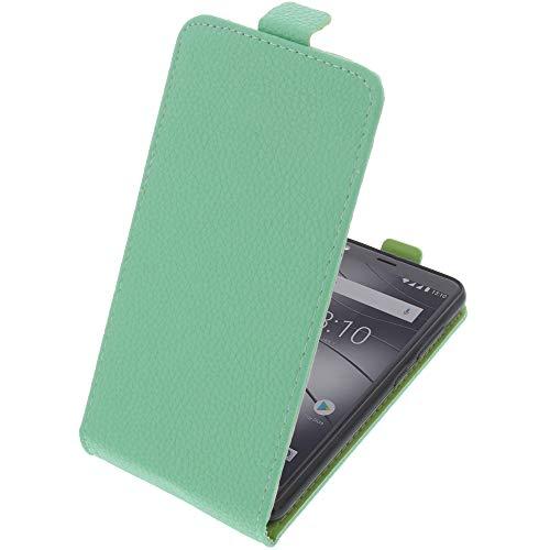 foto-kontor Tasche für Gigaset GS280 Smartphone Flipstyle Schutz Hülle hellgrün