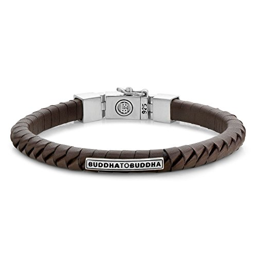 Boeddha to Boeddha - armband KOMANG klein leer bruin, 162BR-F