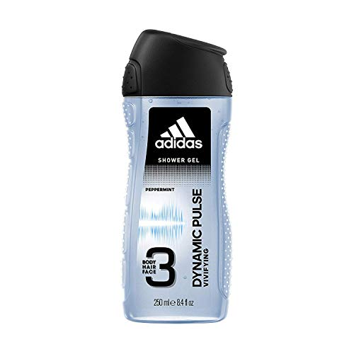 Adidas Dynamic Pulse 3 In 1 Body, Hair and Face Shower Gel For Men, 250 ml