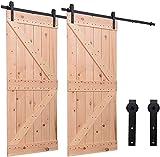 304CM/10FT Quincaillerie Kit de Rail Roulettes pour Porte Coulissante Hardware pour une Porte Suspendue en Bois Sliding Barn Door Hardware
