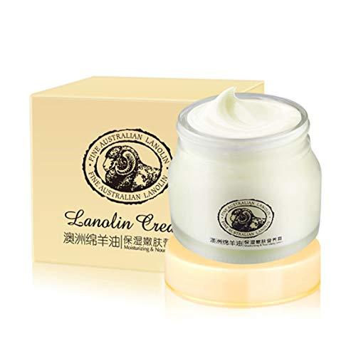 Laikou Creme Schaf-Plazenta Creme Mit Hyaluron Säure Aloe Vera Curacao Skin Care Australian Lanolin Oil Cream (Farbe: weiß)