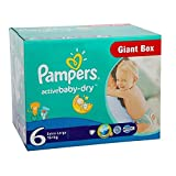 Couches Pampers - Taille 6 active baby dry - 126 couches bébé